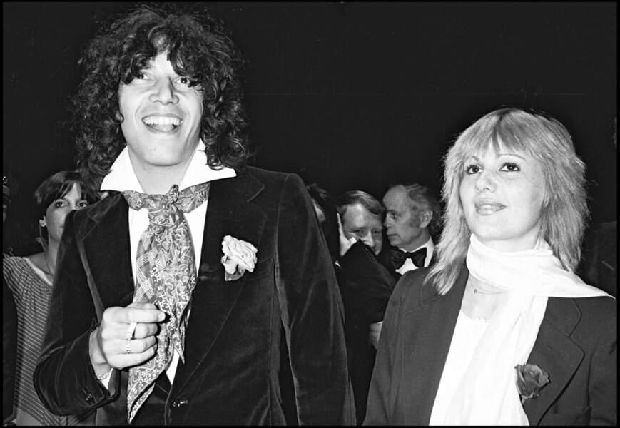 Julien Clerc et Miou-Miou au festival de Cannes en mai 1976.