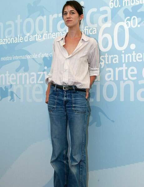 Charlotte Gainsbourg : le look Birkin