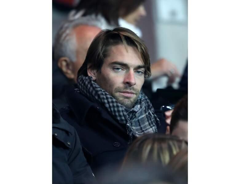 Camille Lacourt est photographié lors un match du PSG