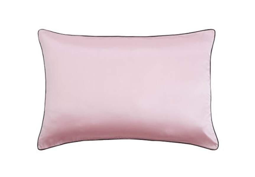La Taie d'oreiller en soie et coton double face Lily Silk