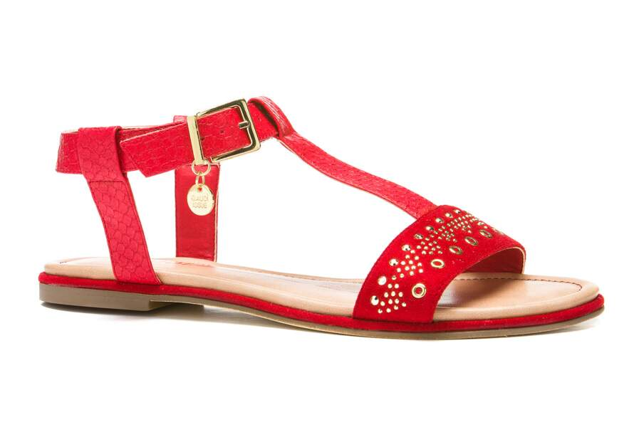 Sandales bimatières