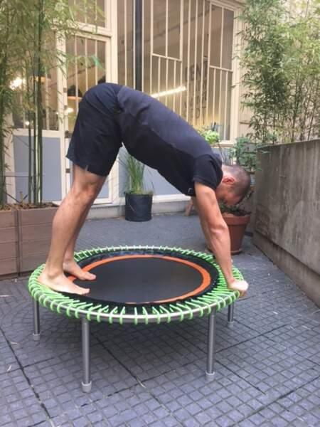 Mini-trampoline bellicon : posture n°2