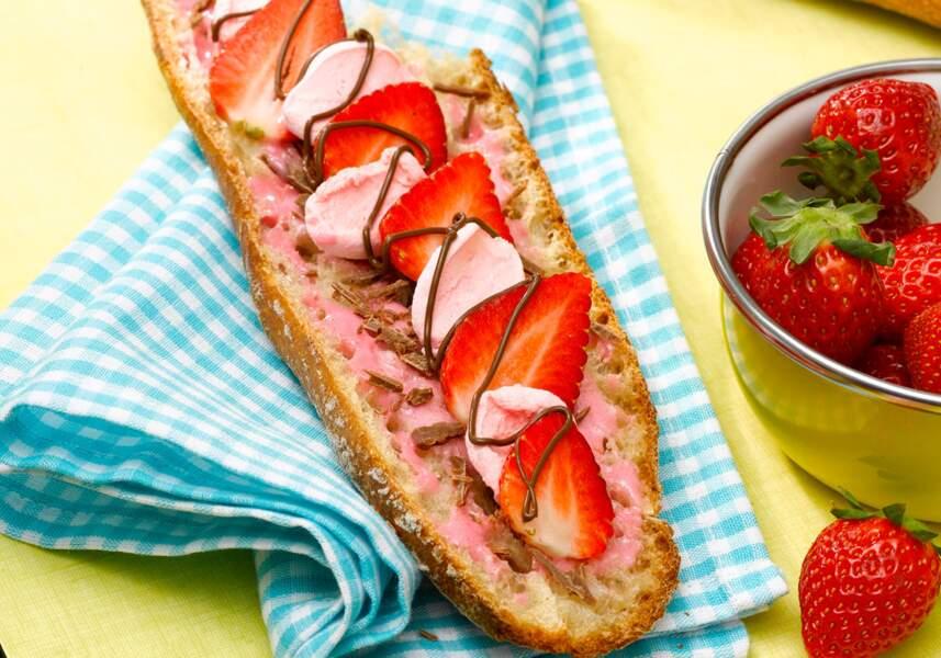 La tartine à la fraise