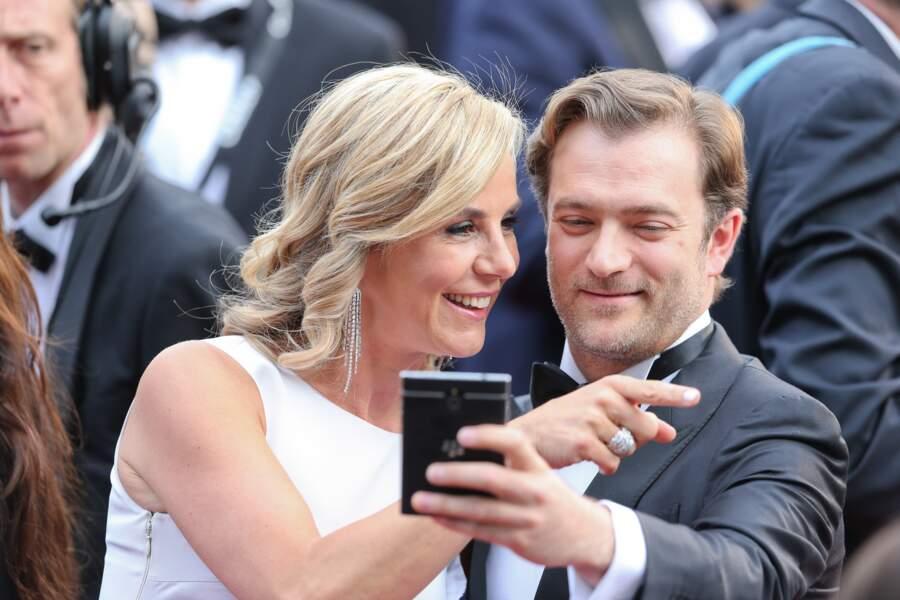 Laurence Ferrari et Renaud Capuçon lors du 68ème festival du film à Cannes (2015)