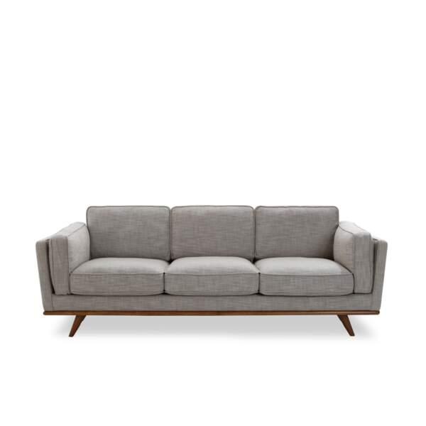 Canapé gris style vintage