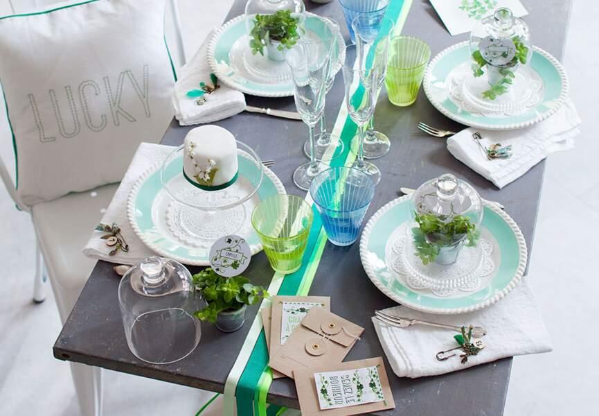 Une déco de table végétale pour Pâques