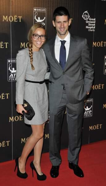 Jelena et Novak Djokovic