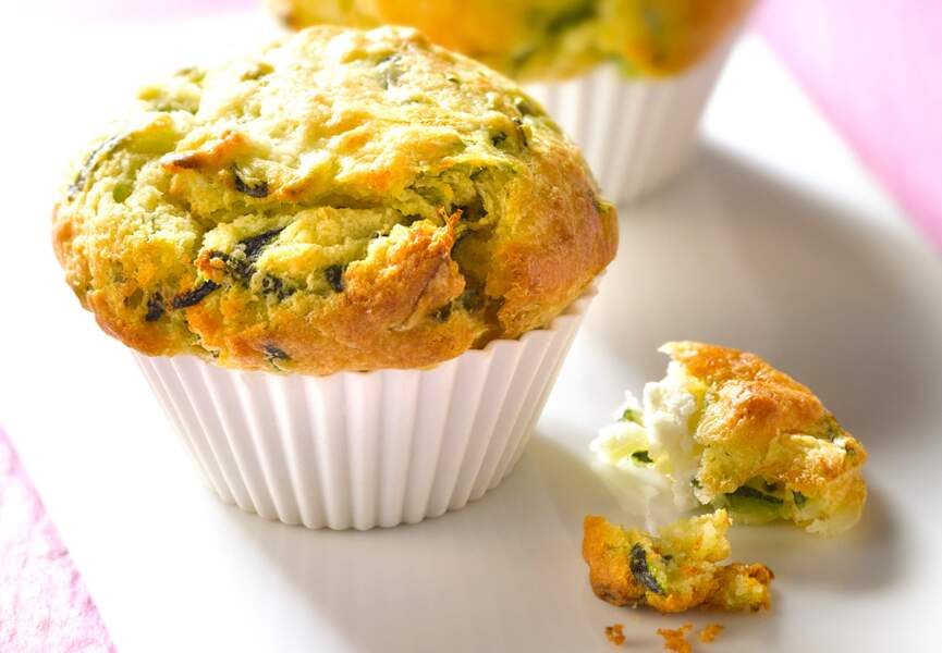 Muffin courgettes chèvre