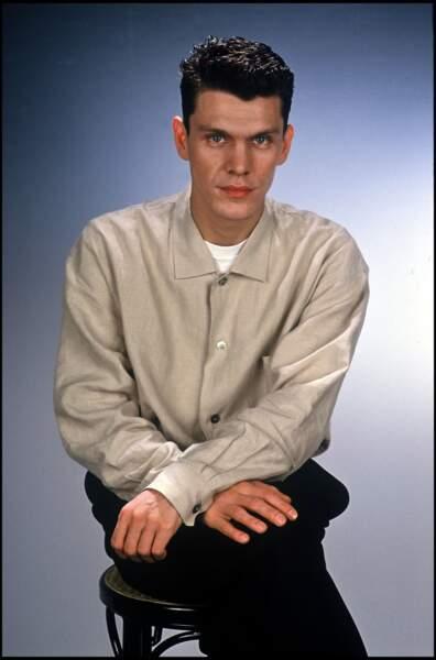 Marc Lavoine lors d'une séance photo en 1989.