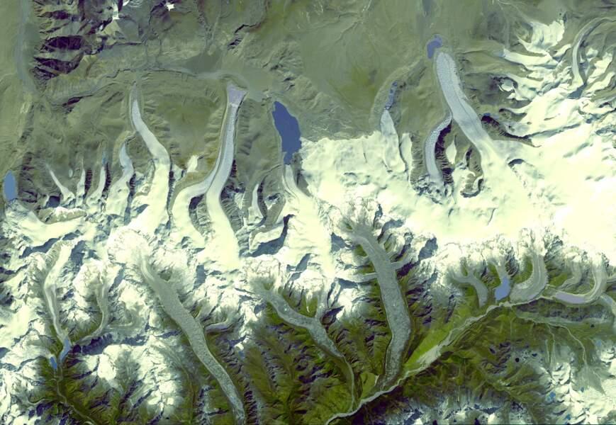 Les glaciers de l'Himalaya, au Bouthan