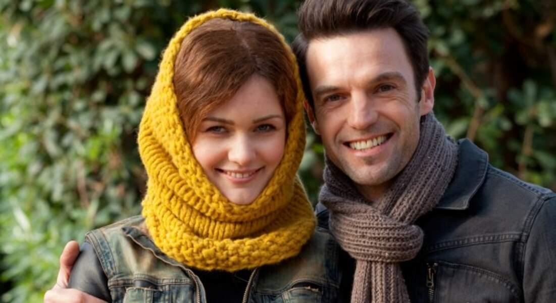 Un écharpe pour homme et un snood femme
