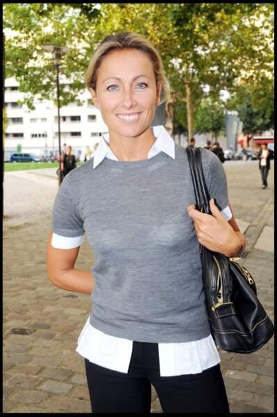 Anne-Sophie Lapix à la conférence de rentrée de Canal + à Paris en 2008.