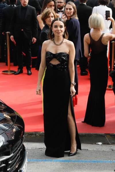 Cannes : Élodie Bouchez, 46 ans, en robe bustier