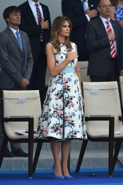Melania Trump lors du défilé du 14 juillet sur les Champs-Elysées