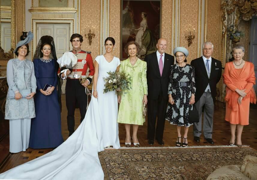Mariage de Fernando Fitz-James Stuart et de Sofia Palazuelo en présence de la reine Sofia d'Espagne