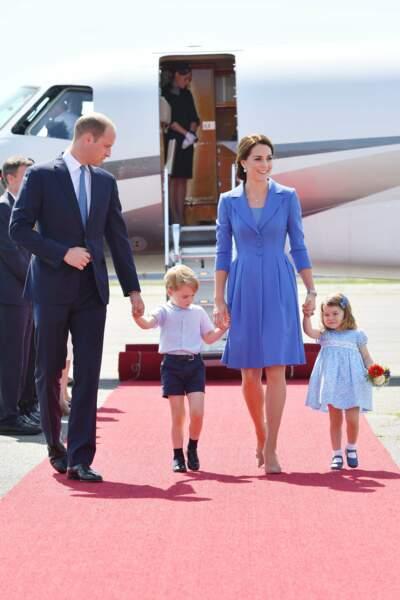 Kate, William Charlotte et George