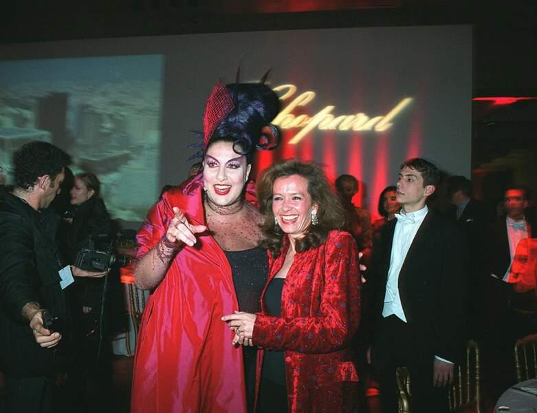 Marianne James au dîner de gala Chopard en 2001