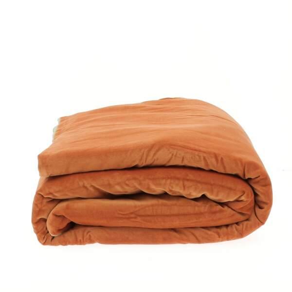 Bout de lit déhoussable en velours