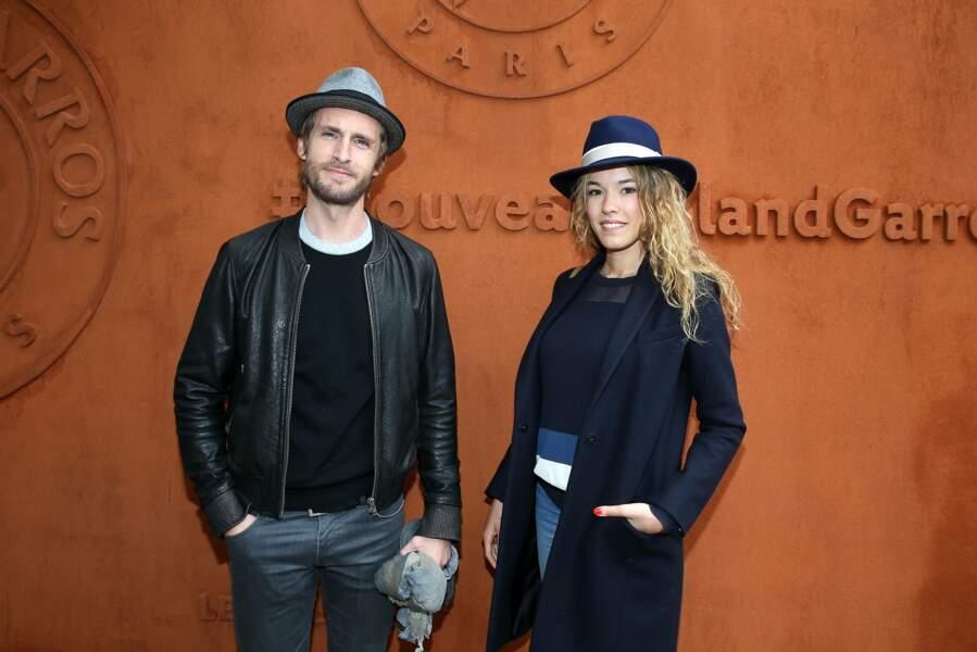 Philippe Lacheau et sa compagne Elodie Fontan au village de Roland Garros le 22 mai 2016.