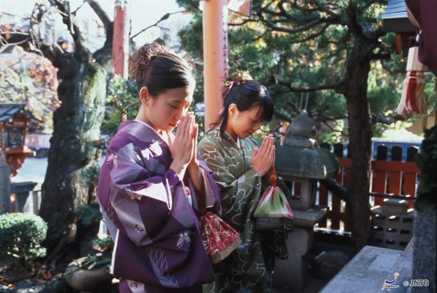 Quartier Gion prière traditionnelle
