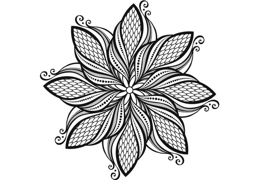 Coloriage anti-stress et mandala gratuits pour adulte - Femme Actuelle