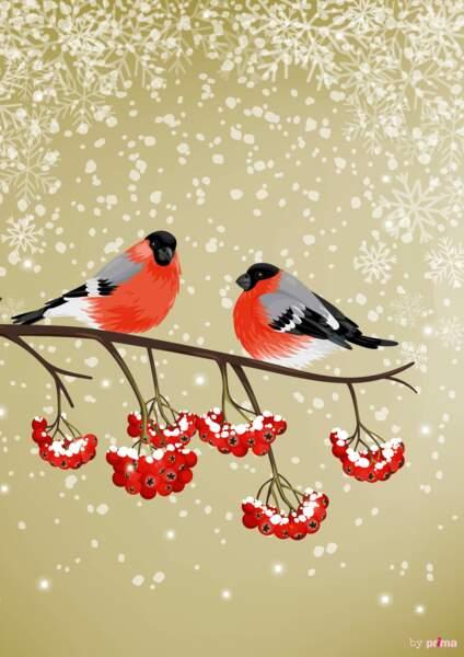 Papier à imprimer motif oiseaux