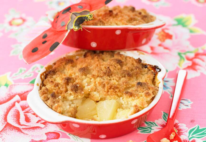 Crumble d'ananas