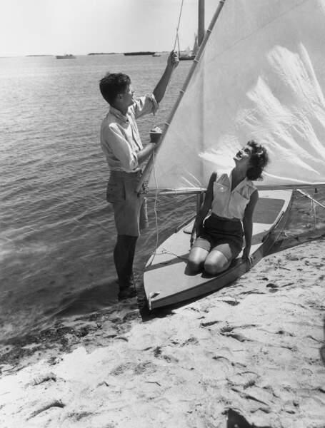 John F. et Jacky Kennedy en 1955