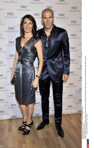 Zinédine Zidane et sa femme Véronique : 2010