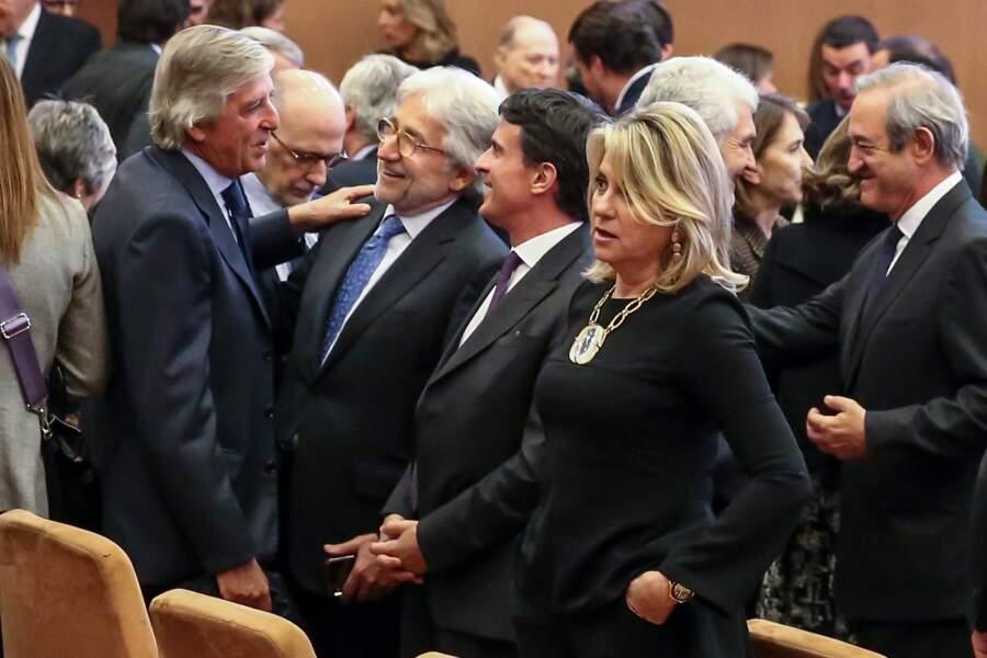 Manuel Valls et Susana Gallardo lors de la soirée des Prix du Royaume d'Espagne à Barcelone, le 25 février 2019