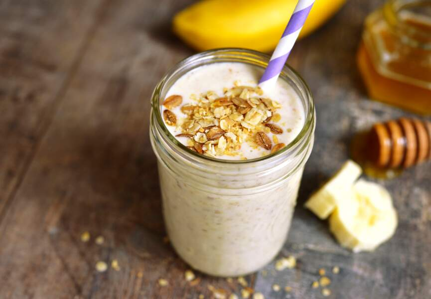Smoothie banane et figue