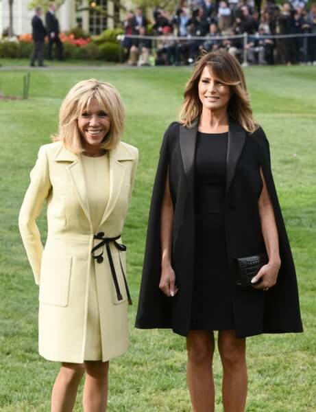 À côté de Brigitte, Melania Trump rivalise de style avec un look impeccable, mais cela n'a pas toujours été le cas