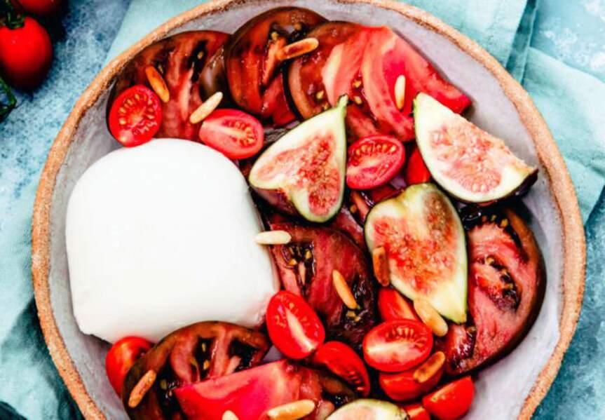 Trio mozzarella, tomates et figues