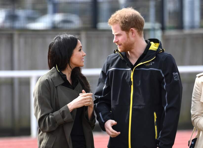 Le prince Harry et Meghan Markle lors des Invictus Games de Sydney en avril 2018