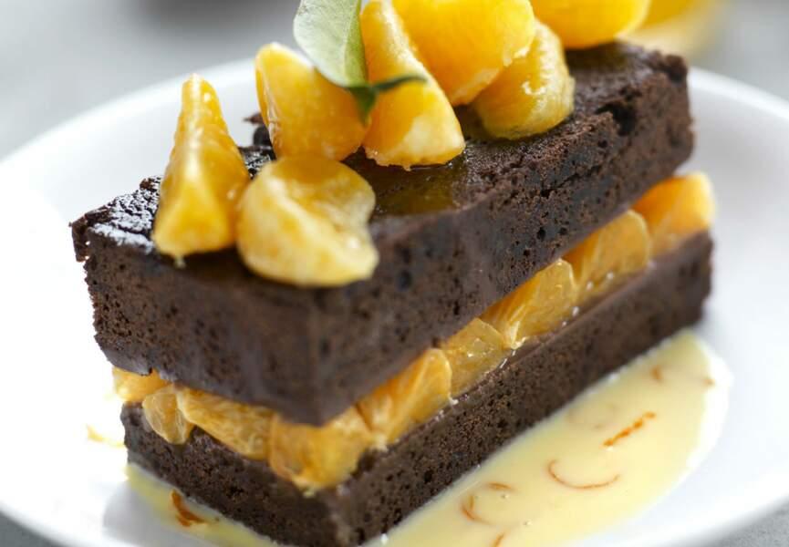 Fondant aux clémentines de Corse et chocolat intense