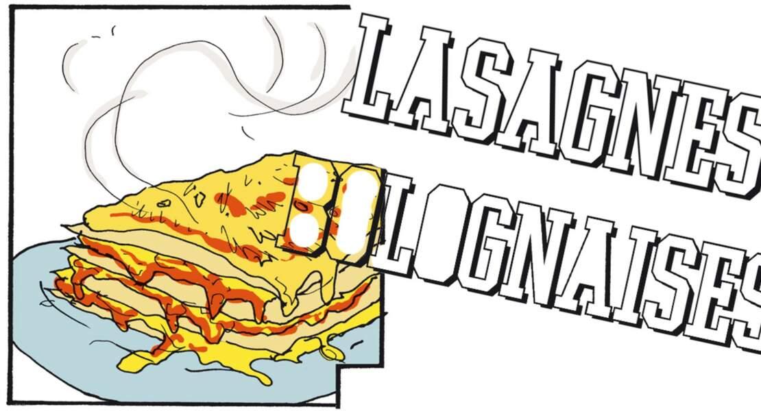 La recette des lasagnes bolognaises en BD