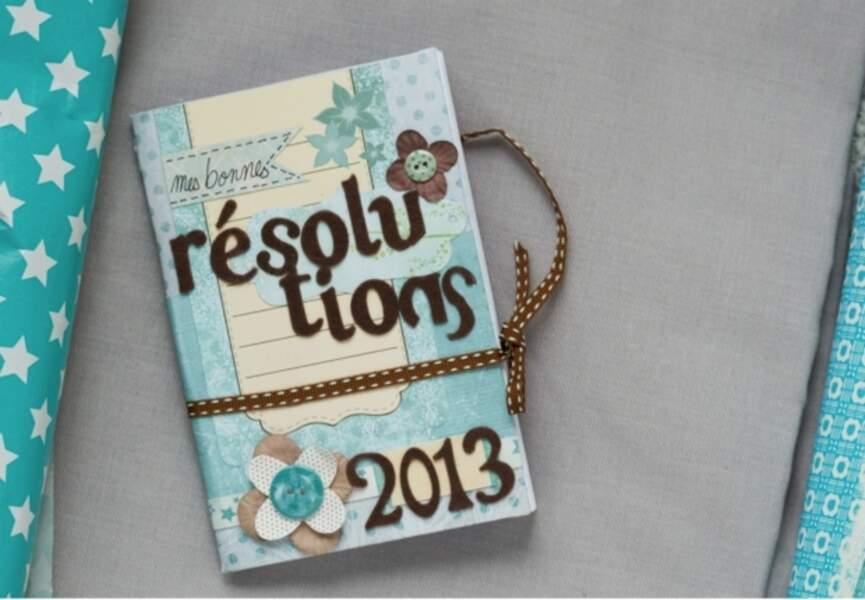 Un carnet de bonnes résolutions en scrapbooking