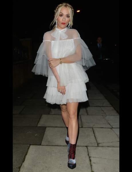 Les bottines patchwork de Rita Ora