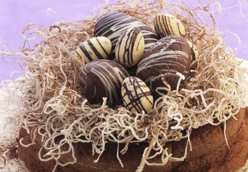 Nid de Pâques aux chocolat blanc