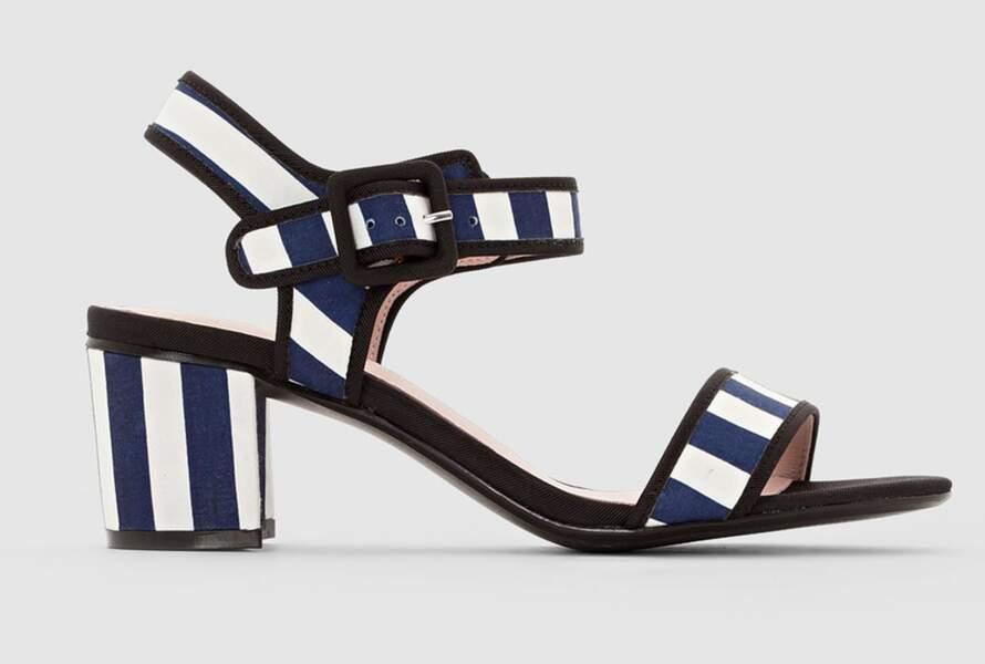 Sandales à rayures