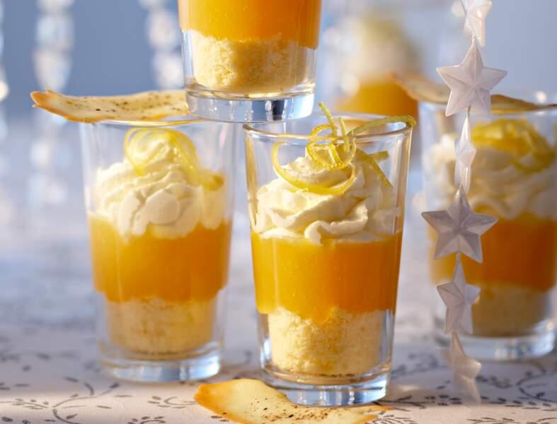Verrines à la mandarine