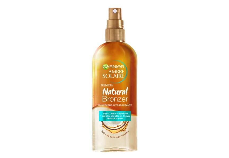 L'huile sèche bronzante Natural Bronzer Ambre Solaire Garnier