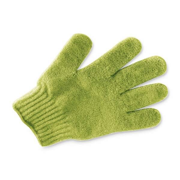 Le gant exfoliant, agent de peau lisse