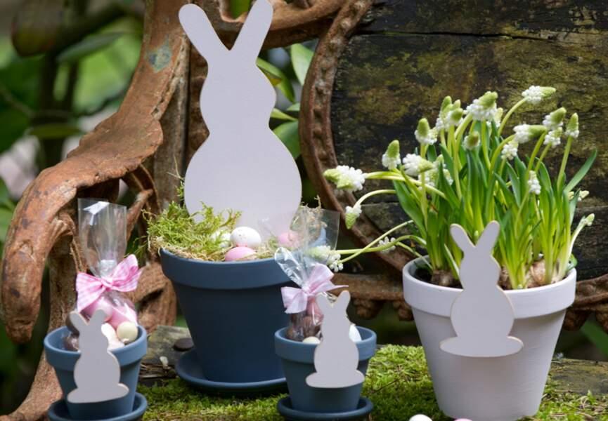 Des petits lapins décoratifs
