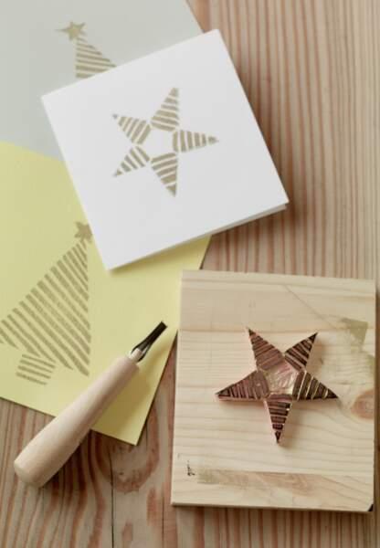 Une déco de Noël pastel en papier : les cartes de voeux