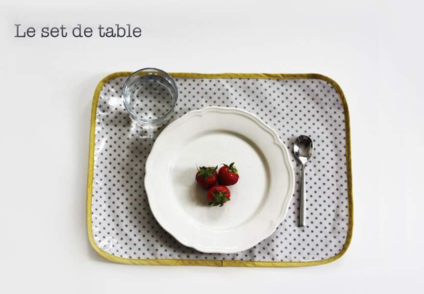Un set de table personnalisé