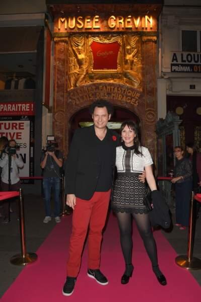 Eric Antoine et sa femme Calista Sinclair au musée Grévin à Paris le 10 octobre 2018