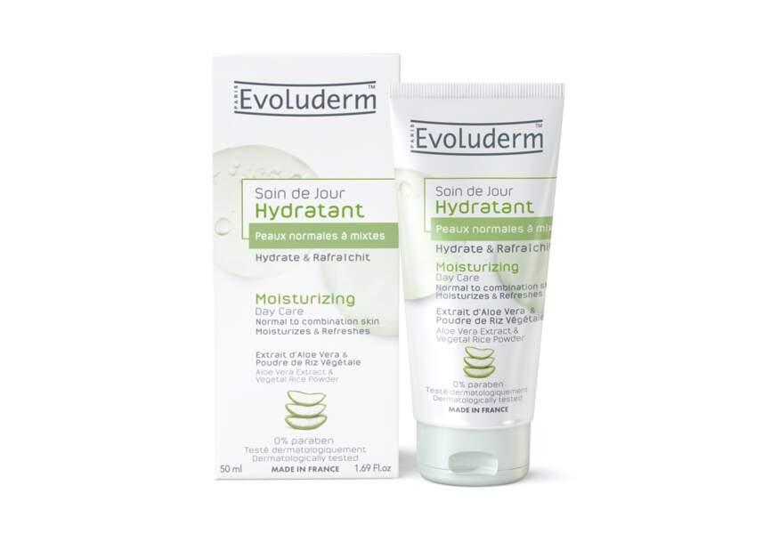 Le soin de jour hydratant peaux normales à mixtes Evoluderm