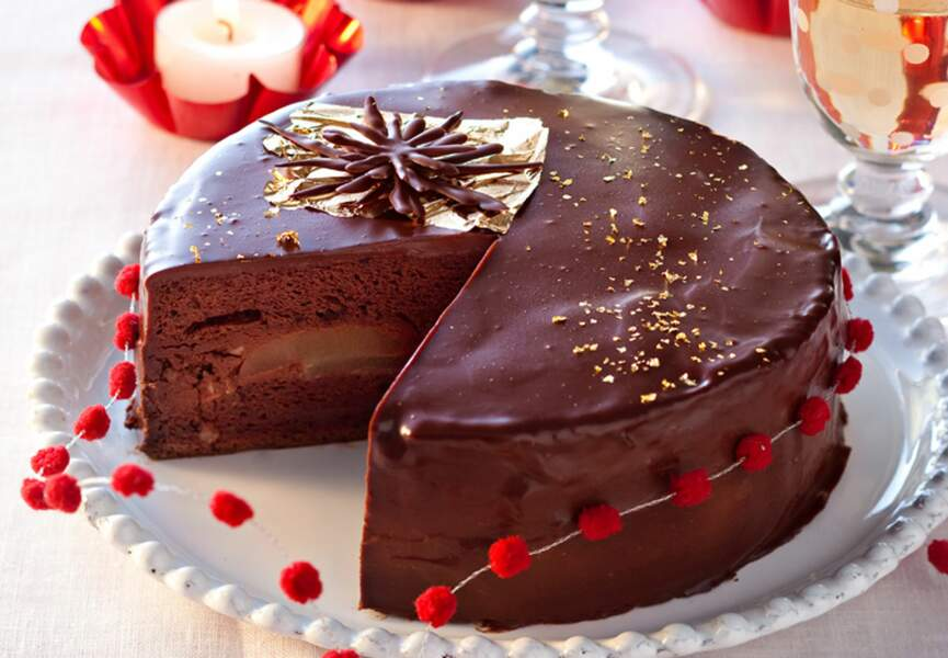 Fondant poire chocolat