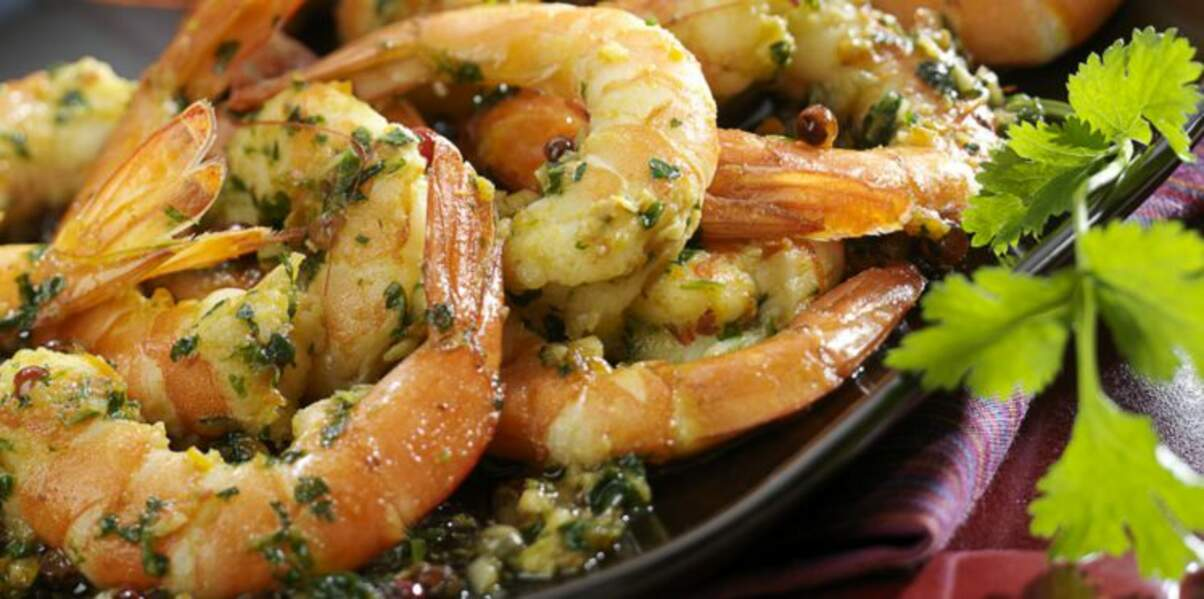 Crevettes à la coriandre